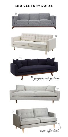 Favorite Mid Century Sofas