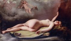 """"""" Luis Ricardo Falero - Reclining nude """""""