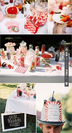 cute candy table ideas | CHECK OUT MORE IDEAS AT WEDDINGPINS.NET | #weddingcakes