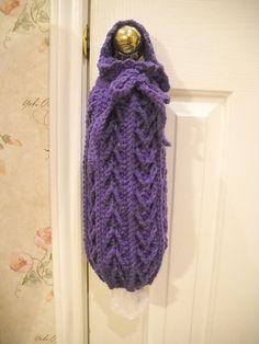 Crochet Grocery Bag Holder on Pinterest Grocery Bag ...