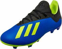 7c3e62d4e9bd adidas X 18.3 FG – Football Blue/Solar Yellow/Black. Adidas Soccer  ShoesSoccer ...