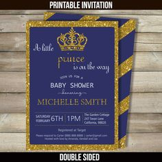 prince baby shower invitation royal baby shower invitation navy blue and gold glitter invitation little prince baby shower printable