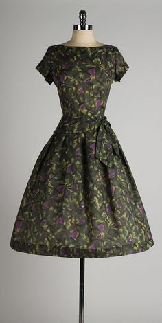 vintage 1950s dress . TONI TODD . abstract by millstreetvintage