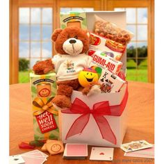 A Touch of Get Well Soon Sunshine Care Package - Gift Baskets at Hayneedle