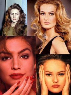 You're so vain !: Le make-up des années 90 The Women of makeup ideas - Makeup Ideas Le Happy, 90s Makeup Look, Glam Makeup, Hair Makeup, 2000s Makeup, Contour Makeup, Makeup Trends, Beauty Trends, Makeup Ideas