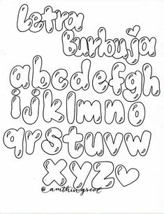 Graffiti Lettering Alphabet, Hand Lettering Alphabet, Doodle Lettering, Pretty Fonts Alphabet, Cute Fonts, Bubble Letter Fonts, Bullet Journal Writing, Book Markers, Lettering Tutorial