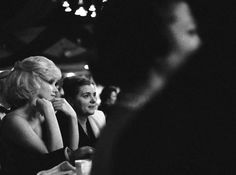 Marilyn at the Actor's Studio benefit at the Roseland Dance Hall for the Actor's Studio Benefit, 1961.