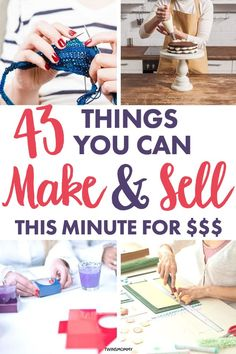 Diy Projects To Make And Sell, Money Making Crafts, Diy Crafts To Sell, Home Crafts, Selling Crafts, Easy Crafts, Work From Home Tips, Make Money From Home, Make Money Online