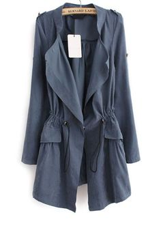 Fashion Long Sleeve Cotton Women Trench Coat This trench is light weight, comfortable and made of soft cotton blend. This is very easy to wash. This is not just suits our style standard but it makes easy to wear for on the go ladies. Blue Trench Coat, Coat Outfit, Coat Dress, Dresses For Less, Raincoats For Women, Outerwear Women, Mode Vintage, Look At You, Casual Clothes