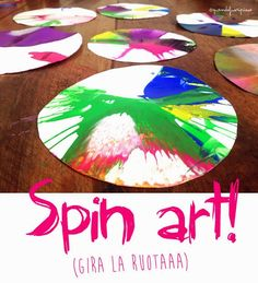 funny craft for kids: Spin Art
