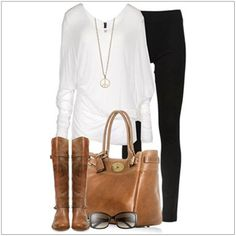 CHATA'S DAILY TIP: Invest in a good quality leather handbag and boots; these key items are extremely versatile and fashionably timeless. A longer white top perfectly hides a fuller bottom. If you have a fuller figure swop the skinny jeans for a bootleg or slim-fit jean. COPY CREDIT: Chata Romano Image Consultant, Erika Swanepoel http://chataromano.com/consultant/erika-swanepoel/ IMAGE CREDIT: Pinterest #chataromano #imageconsultant #colour #style #fashion