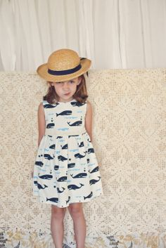 style, kids fashion, whale dress, dresses, children, babi, misha lulu, toddler girl, whales