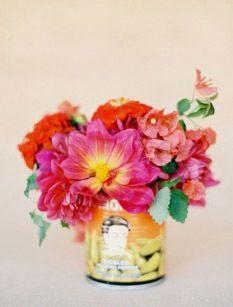 but fun fiesta inspired wedding ideas, mexico wedding ideas, spanish wedding ideas, cinco de mayo party ideas Wedding Colors, Wedding Styles, Wedding Flowers, Wedding Bouquet, My Flower, Beautiful Flowers, Flower Center, Simply Beautiful, Flower Pots