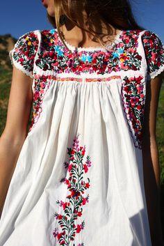 Beautiful BohemianSuper Pretty and Tons of FLOWERSRomantic Vintage Oaxacan BeautyLovely DETAILED Hand Embroidered FlowersClassic Oaxacan EmbroideryCrochet Deta