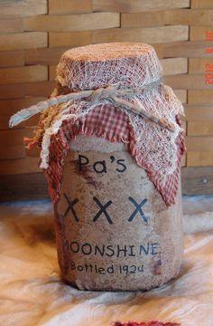 Primitive Mason Jar Moonshine
