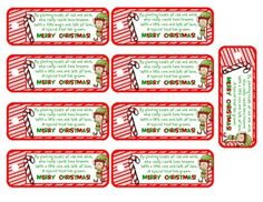 candy cane labels