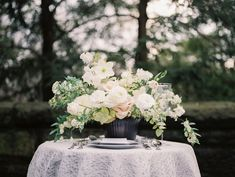 Flowers by Designs by Ahn | Nüage Designs Blog - Find inspiration from real weddings & events! Wedding Rentals, Wedding Events, Wedding Flower Inspiration, Wedding Flowers, Unique Weddings, Real Weddings, Blush Color Palette, Social Events, Wedding Season