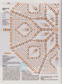 Crochet and arts: Interesting tablecloth                                                                                                                                                                                 More