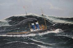 Riders On The Storm, Rough Seas, Merchant Marine, Tug Boats, Ship Art, Sailboats, Rowing, Storms, Fishing Boats