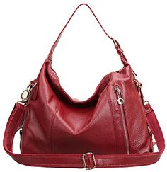 Heshe Fashion Women Ladies Genuine Leather Cross Body Shoulder Bag Satchel Handbag (Jester Red) Price:$79.89  You Save:$44.10 (36%)