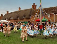 Children perform the Maypole Dance at the 2010 Downton Cuckoo Festival, Wiltshire by Anguskirk, via Flickr