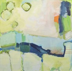Claire Desjardins, Talking to Strangers, abstract, acrylic, blue, green