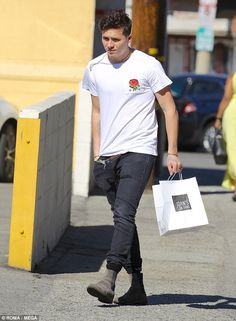 Stepping out: In the wake of his possible career move, Brooklyn was spotted in Los Angeles ahead of his girlfriend Chloe Moretz's 21st Birthday