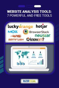 Website Analysis Tools: 7 Powerful and Free Tools Online Marketing Courses, Digital Marketing Services, Internet Marketing, Tool Website, Free Website, Make Money Online, How To Make Money, Website Analysis, International Companies