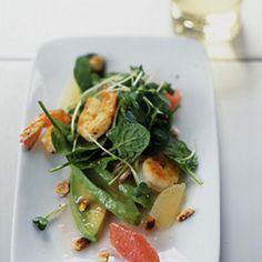 Shrimp and Avocado Salad with Grapefruit Vinaigrette recipe   Epicurious.com
