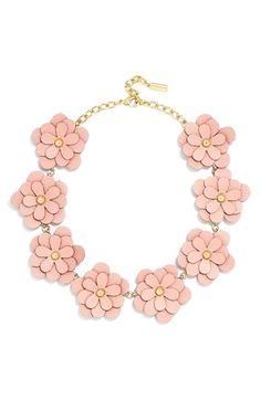 BaubleBar 'Zoe' Leather Flower Collar Necklace