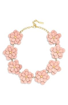 BaubleBar 'Zoe' Leather Flower Collar Necklace