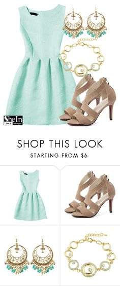 """""""SheIn"""" by deedee-pekarik ❤ liked on Polyvore featuring dress, mintdress and shein"""