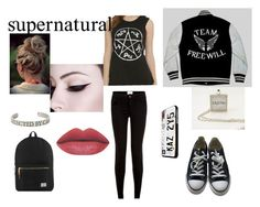 """""""total Spn"""" by chaimae-megherbi on Polyvore featuring mode, Converse et Herschel Supply Co."""