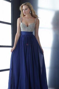 Pretty Prom Dresses 2013 Plus Siz Blue A Line Floor Length Chiffon online shop affordable for fashion