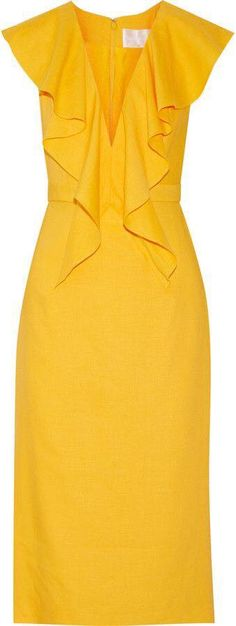 Vestidos 2017 color amarillo http://beautyandfashionideas.com/vestidos-2017-color-amarillo/