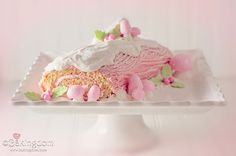 Pink Peppermint Yule Log