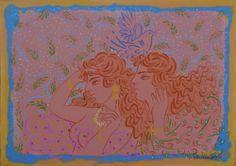 .:. Σταθόπουλος Γεώργιος – Georgios Stathopoulos [1944] Artist, Painting, People, Artists, Painting Art, Paintings, Painted Canvas, People Illustration, Drawings