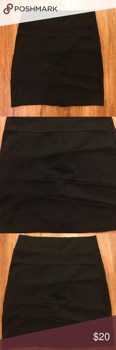 Short bandage skirt Short black fitted bandage skirt Honey Punch Skirts Mini
