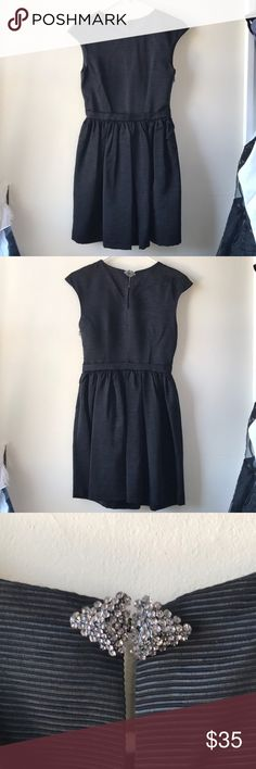 Little black dress Clinched waist and pleated little black dress Zara Dresses Mini