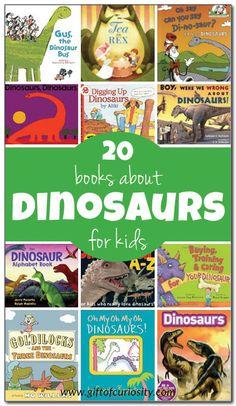 20 books about dinosaurs for kids Kids Crafts Dinosaur Books For Kids, Dinosaur Crafts Kids, Dinosaurs Preschool, Dinosaur Activities, Dinosaur Gifts, Preschool Books, Learning Activities, Childrens Books, Kid Books