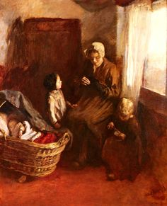 """""""Cottagers At Scheveningen"""" by Albert Neuhuys"""