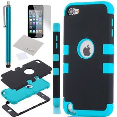 Pandamimi ULAK(TM) For Apple iPod Touch Generation 5 Hybrid 3 Layer Silicone Case with Hard Shell Inside Case... - Listing price: $18.99 Now: $8.99