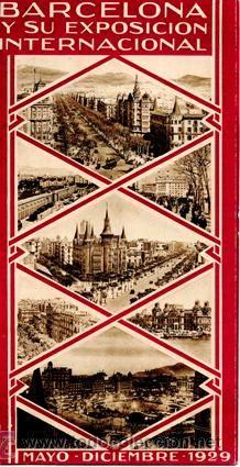 Desplegable-Presentación *Exposición Internacional Barcelona 1929* - 31 fotografías, 1 vista aérea