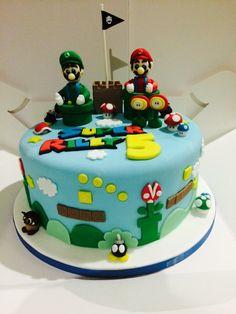 Mario and Luigi cake