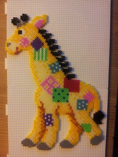 Girafe hama beads by Myosotis