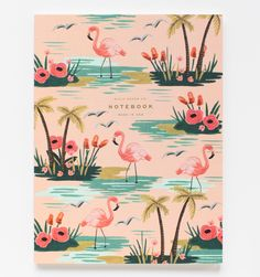 RIFLE PAPER CO. | This notebook is fun with a little flamingo flair!  It is a trendy but practical piece for making a grocery list or jotting down good memories.