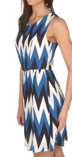 Vestido azul geometricas 2