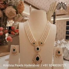 Product Code:JAH0039, Contact us on +91 9248036721 Floral Patterns themed Necklace set crafted using alloy & polished in yellow gold with White, Green Cz's, Pearls glam the pretty Feminine. #krishnapearls #krishnapearlsjubileehills #pearlnecklace #pearlnecklaces #pearlnecklaceset #pearlnecklacedesigns #pearlnecklaceph #silverset #silverearrings #pearljewellery #earrings #sets #necklaces #pearlnecklace #pearlshipping #pearls #silverjewelry #pearldesignes #pearljewelry #pearlearrings Pearl Necklace Designs, Pearl Necklace Set, Pearl Jewelry, Silver Jewelry, Silver Earrings, Pearl Earrings, Feminine, Floral Patterns, Pearls