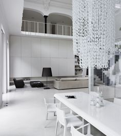 Beautiful integrated cabinet inside the Private Loft in Monza by Lissoni Associati.