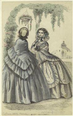 Fashion Plate, Les Modes Parisiennes, 1859.